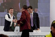 Presidente Juan Manuel Santos Calderón en evento de certificación de competencias