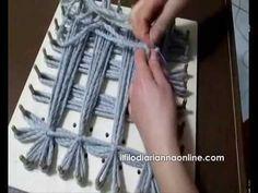 Video TUTORIAL per la realizzazione di un plaid a telaio, spiegato passo passo. Clicca sulla foto.