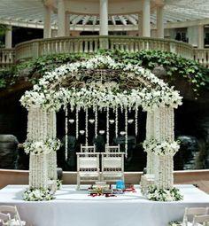 Soma Sengupta Indian Bridal Decoration- So Romantic White!