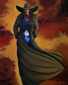 COWGIRL DUST cowgirl and cowboy painting by Lance Headlee http://lance-headlee.artistwebsites.com/featured/cowgirl-dust-lance-headlee.html see more Lance Headlee original western paintings at http://lanceheadlee.com/category/contemporary-western-collection/