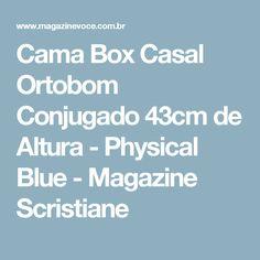 Cama Box Casal Ortobom Conjugado 43cm de Altura - Physical Blue - Magazine Scristiane