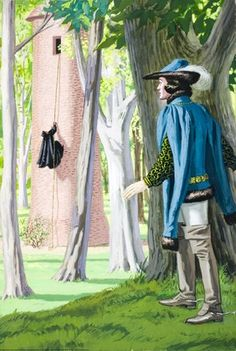 Prince sees witch climb tower - Rapunzel - Eric Winter - Ladybird book
