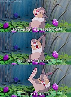 """But it sure is awful stuff to eat."" ~ Thumper"