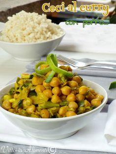 Ceci al curry con porro contorno veloce