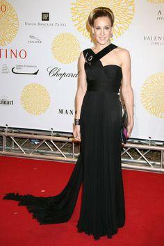 Sarah Jessica Parker en la fiesta del 45 Aniversario de Valentino en julio de 2007.