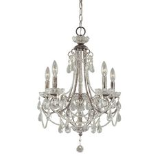 Minka Lavery Distressed Silver Traditional Clear Glass Chandelier at Lowe's. The Minka Lavery Distressed Silver Mini Chandelier is moderately sized to fit into smaller spaces. The sweeping arms and crystals provide graceful Empire Chandelier, 5 Light Chandelier, Beaded Chandelier, Crystal Chandeliers, Small Chandeliers, Glass Chandelier, Victorian Chandelier, Acrylic Chandelier, Chandelier Ideas