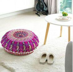 "25 Pcs Large Mandala Floor Pillow Cover 32/"" Round Cushion Cover Wholesale Lots"