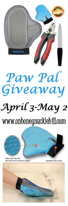 Paw Pal Pet Grooming Glove Review and Giveaway | On Honeysuckle Hill