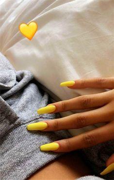 Acrylic Nails Acrylic Nails,Mani Pedi Nail Art Design Trendy Yellow Nail Art Designs To Make You Stunning In Summer;Acrylic Or Gel Nails; French Or Coffin Nails; Matte Or Glitter Nails; Acrylic Nails Yellow, Yellow Nail Art, French Acrylic Nails, Coffin Nails Matte, Almond Acrylic Nails, Aycrlic Nails, Almond Nail Art, Best Acrylic Nails, Acrylic Nail Art