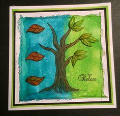 Aquatints new tree stamps