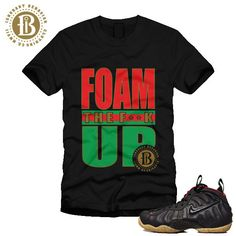 5591755d788 Nike Shoes Matching T Shirts · FOAMPOSITE GUCCI - BLACK - FOAM THE f  K UP  - SS   BLK