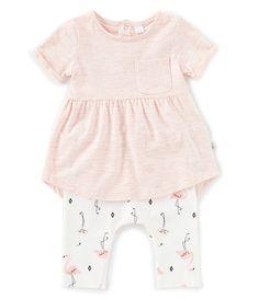 418a641cf0d Petit Lem Baby Girls 12-24 Months Heathered Tunic Top   Flamingo Legging Set