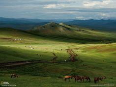 Mongolian Steppe http://i.imgur.com/YkFPcHv.jpg