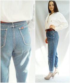 LEE jeans  #MOM Jeans  70s vintage jeans 70S by #wayfarervintage, #shopetsy, #highwaist, #denim, #leejeans