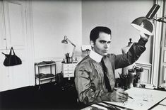 Fashion designer Karl Lagerfeld.