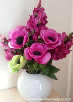 Silk flower house uk specialise in artificial flower arrangements details about silk flowers arrangement hot pink gift home mothers day mightylinksfo Choice Image