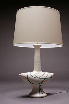 Suzanne Ramie (Madoura) - Magen Gallery; Table lamp, glazed ceramic, 1950s, SOLD