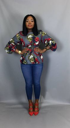 Show off that awesome silhouette in this retro classic chic top.look smart enough to take you into any boardroom .Paired with a pencil skirt or pants.Or wear it with your favourite pair of jeans for that casual look. Has side ties which can be tied as a bow in front for that trendy vibe