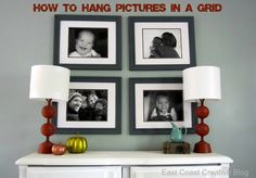 How To Hang Pictures in a Grid