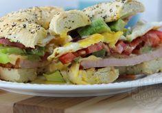 Canadian Back Bacon & Fried Egg Sandwich