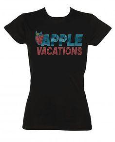 Apple Vacations Rhinestone Design