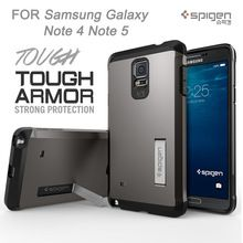 New Original SPG Holder Function TOUGH ARMOR Cover Case For Samsung Galaxy Note 4 Note 5 Mobile Phone Back Cases