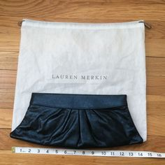 Lauren Merkin shimmery navy Louise clutch Shimmery navy blue. New condition. Not even sure if I ever used it. Comes with dust bag. Lauren Merkin Bags Clutches & Wristlets