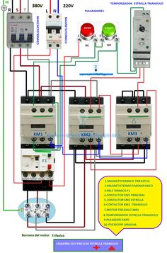 Star Delta Wiring Diagram Control Franklin Electric Submersible Motor Three Phase Connection Without Timer Power Electrical Circuit Panel Installation Engineering Trifasico