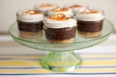 s'mores cupcakes in a jar