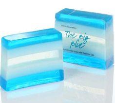 Bomb Cosmetics Handmade Natural Sliced Soap BIG BLUE   MadMoon