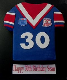 Sydney Roosters NRL Rugby League birthday cake - Kempsey, Australia