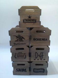 Engradado Budweiser 6 Garrafas De Cerveja Caixa De Madeira - R$ 29,99 em Mercado…