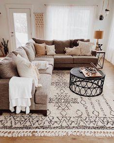 Contemporary Gray 2 Piece Sectional Sofa with RAF Sofa - Boho Living Room, Home And Living, Living Room Decor, Small Living, Living Spaces, Cozy Living Room Warm, 2 Piece Sectional Sofa, Living Room Sectional, Gray Couch Living Room