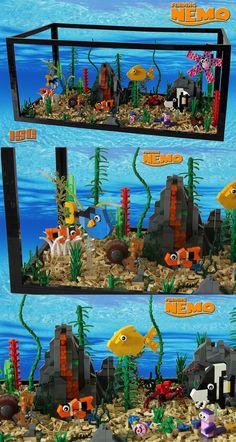 display lego creations in aquarium?