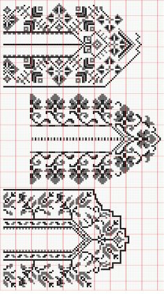 This Pin was discovered by Nil Palestinian Embroidery, Hungarian Embroidery, Folk Embroidery, Hand Embroidery Designs, Ribbon Embroidery, Cross Stitch Embroidery, Embroidery Patterns, Knitting Patterns, Cross Stitch Borders