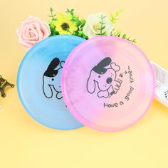 FameBeaut 1pcs Plastic Pet Dog Cat Puppy Toy Play Treat Training Funny Flying Saucer Frisbee Discs Outdoor Large Dog Toys #Affiliate