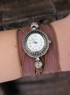 Boho Ribbon Wrap Watch by www.everdesigns.com $35