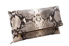 PythonEmbossed FoldOver Clutch Python Leather by MimicDesign