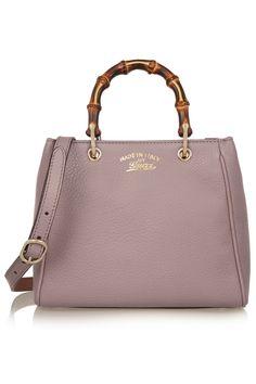 Gucci | Bamboo Shopper mini textured-leather shoulder bag | NET-A-PORTER.COM
