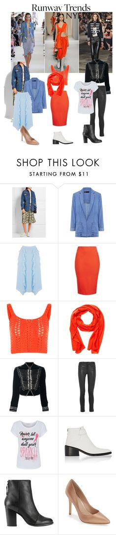 """""""NYFW Runway Trends"""" by alexxa-b-charles ❤ liked on Polyvore featuring Valentino, 3x1, Topshop, Glamorous, Forte, Roberto Cavalli, Frame Denim, George, Helmut Lang and rag & bone"""