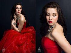 Senior studio photography by Amanda Holloway.
