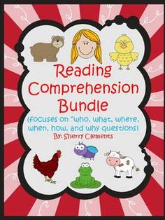Reading Comprehension Bundle: Focuses on who, what, where, when, how, and why questions - 9 books - 151 pages - $