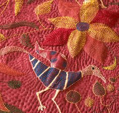 """Learn about quilting with organic tussar silk in """"The Romance of Silk"""" in the April/May 2013 issue of The Quilter Magazine, now on sale. (Photo courtesy of Jharcraft)"""
