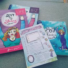 These came today! Can't wait to jump in and fill them out  #leoniedawson #plannermadness #planner #planneraddict #2017shiningyear #bizworkbook #lifeworkbook