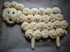 Little lamb bread idea Cooking Company, Different Types Of Bread, Bread Starter, Bread Art, Bread Shaping, Bread Machine Recipes, Fresh Bread, Easter Dinner, Food Humor