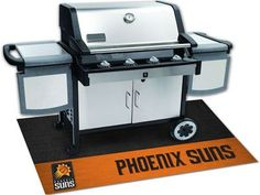 The Phoenix Suns Grill Mat protects your deck or patio while grilling