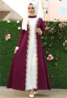 Aysima Boydan Güpürlü Elbise Mor 5738