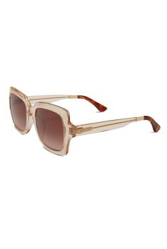 9380fd0b39ba Featuring an oversized square frame in champagne crystal