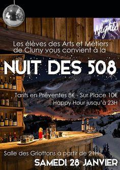 Nuit des 508, le 28 janvier 2017 à Cluny : http://clun.yt/2hZoXwK