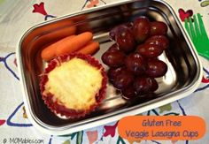 Gluten-Free Veggie Lasagna Cups - MOMables® - Real Food Healthy School Lunch & Meal Ideas Kids Will LOVE